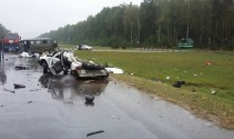Road accident in Soligorsk district: three people died